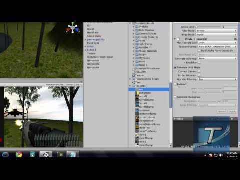 Create a FPS Game in Unity 3D #7 - Add a HUD and Health to