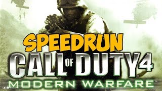 Call Of Duty 4: Modern Warfare ► SPEEDRUN - Скоростное прохождение
