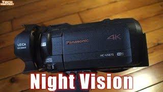 Night Vision: Panasonic 4K Ultra HD Flash Memory Camcorder HC-VX870