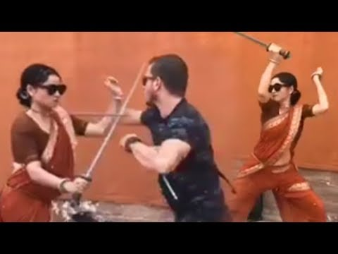 Ankita Lokhande CRAZY Sword FIGHTING Video For Man