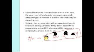 Arrays in SAS