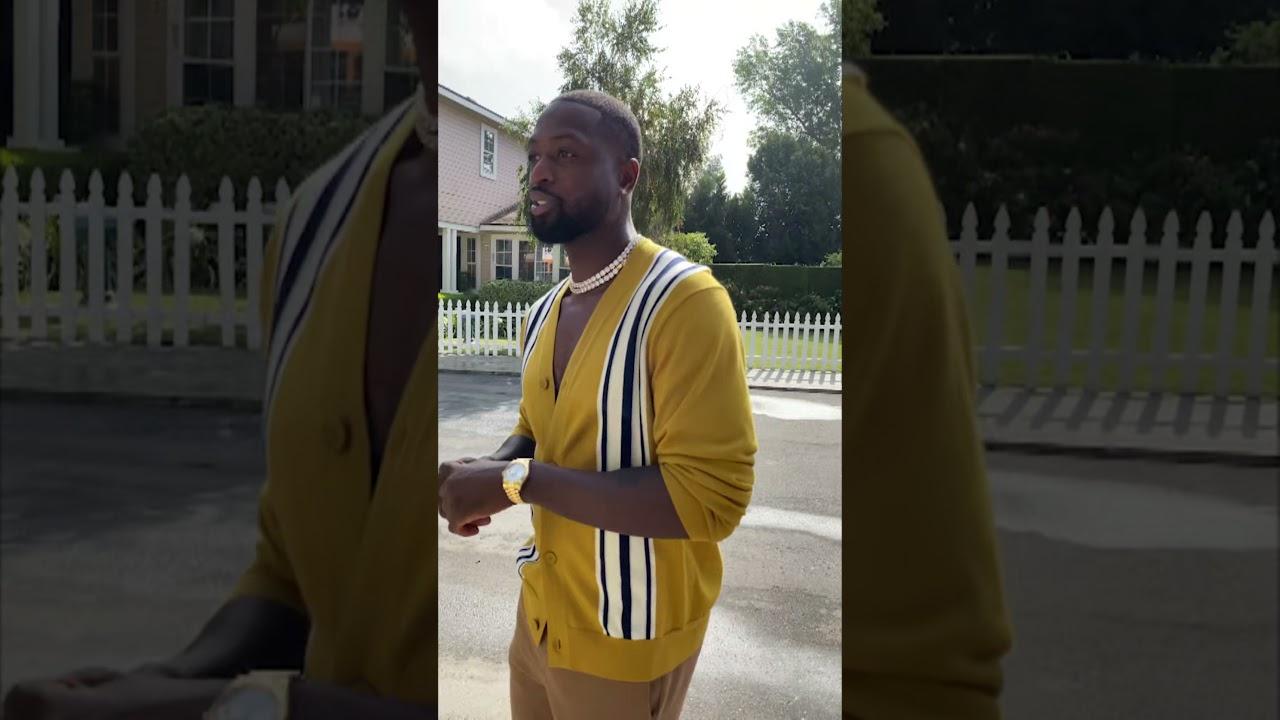 Dwyane Wade at NBA Lane. #NBA75 💎| #Shorts