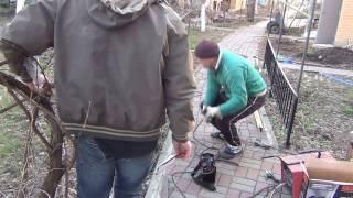 Сварочный аппарат Дніпро-М  САБ-250 ДПК (распаковка  и первая сварка)