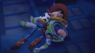 Woody & Sora Save Buzz Lightyear - Kingdom Hearts 3 English Dub (Toy Story) KH3