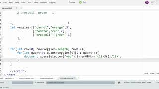 JavaScript 2-Dimensional Arrays