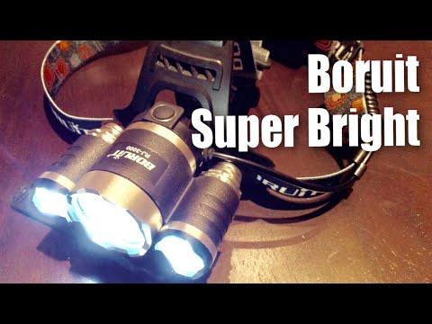 BORUiT RJ-3000 Super Bright 3x Cree XML T6 4 Modes 5000Lumens Headlamp