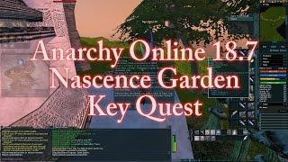 ANARCHY ONLINE 187 NASCENCE GARDEN KEY QUEST 1080p60 Gameplay / Walkthrough