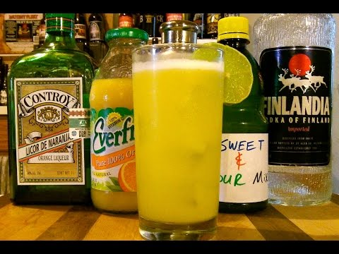 How To Make A Triple Orange Sour Cocktail / Mixed Drink ✪ RECIPE INCLUDED ✪ DJs BrewTube