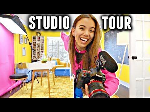 STUDIO TOUR 2018! (Makeup collection, camera equipment & more)✨💛🌼