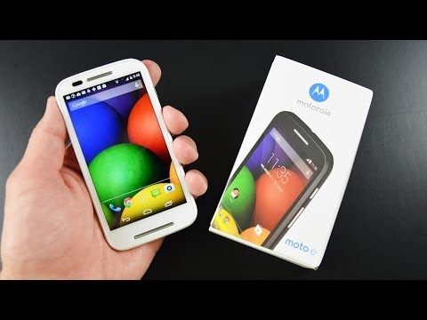 Motorola Moto E: Unboxing & Review