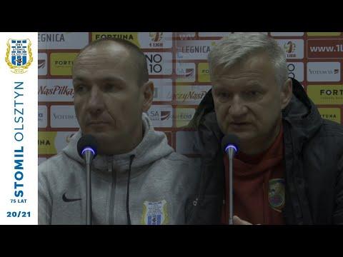 Konferencja prasowa po meczu Miedź Legnica - Stomil Olsztyn