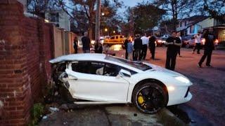 Tại nạn ô tô và bài học rút ra 2018 - Khi xế ngu lái siêu xe Lamborghini Super Car