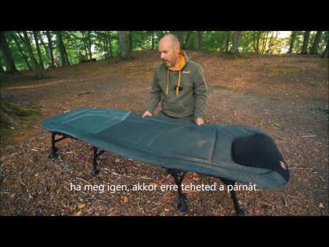 Prologic Cruzade 8 lábas lapos ágy + ajándék hálózsák videó