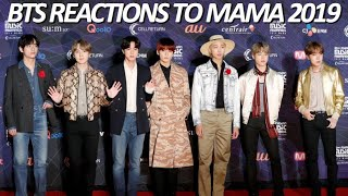 bts reactions to mama 2019