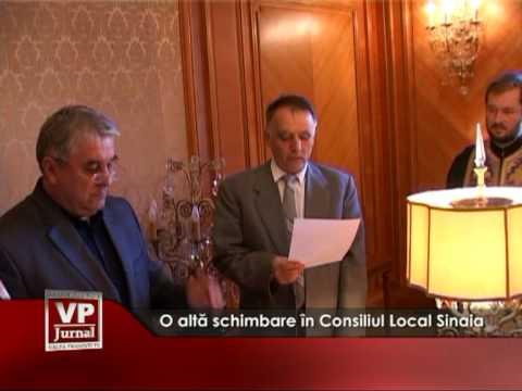 O altă schimbare în Consiliul Local Sinaia