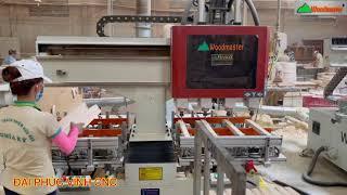 MÁY CNC MỘNG ÂM 3 Trục Woodmaster Phay khoam lắc mộng đa năng siêu nhanh