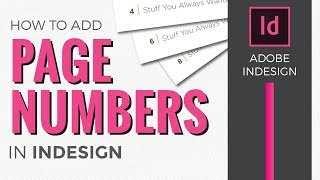 Page Numbers in InDesign CC [How to add using Master Pages]