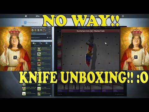 New CSGO Spectrum Case! KNIFE UNBOXING!Huntsman Marble Fade