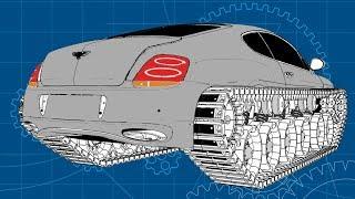 Bentley Ultratank. Гусеницы готовы.