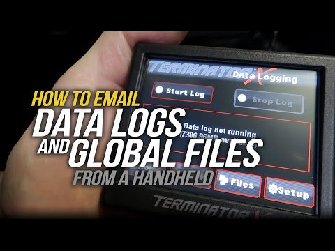 How To Email Datalogs and Global Files for Holley EFI and Terminator X