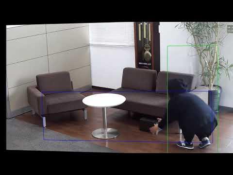 業務用ネットワーク監視カメラ機能紹介動画「置き去り検知~不審物監視~」