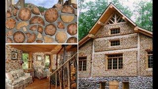Поленья вместо кирпича, или Как построить колоритный эко-дом из обычных дров