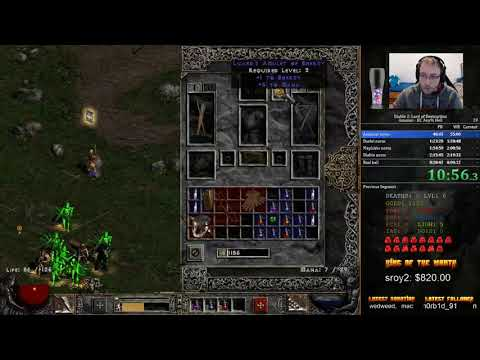 Diablo 2 LoD HC Any% Hell Amazon Speedrun - 6:29:58 [WR]
