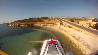 preview picture of video 'Marsaxlokk Malta-fun cub mpx on floats'