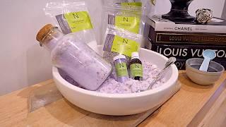 DIY Lavender Homemade Bath Salts Recipe Using Himalayan Bath Salt (Benefits)