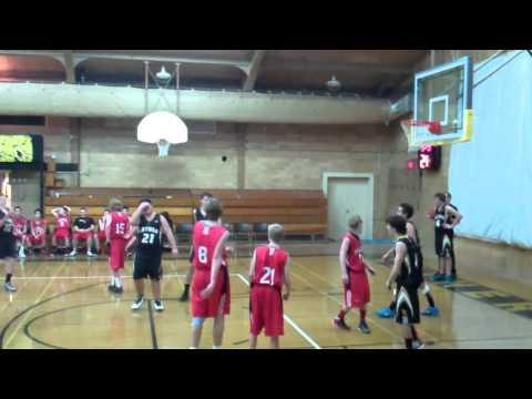 Basketball player scores basket on wrong hoop...
