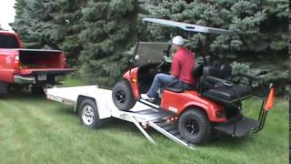 Aluma 6310 Single Axle Utility Trailer with Golf Cart