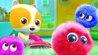 Baby Kitten Cleans the Dust   Cute Dust Song   Nursery Rhymes   Kids Songs   BabyBus