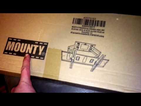 MOUNTY TV Wandhalterung MY153, schwenkbar, neigbar, MAX. BELASTUNG: 100 KG unboxing und Anleitung