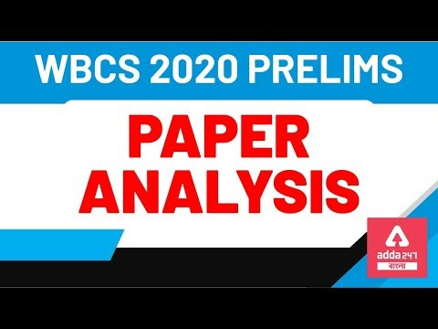 , title : 'WBCS PRELIMINARY EXAM 2020 PAPER ANALYSIS ENGLISH APURVA SIR
