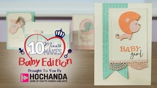 How to make a New Baby Card - Full Length Tutorial