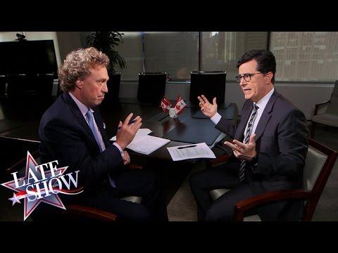 Stephen Colbert Considers Fleeing America