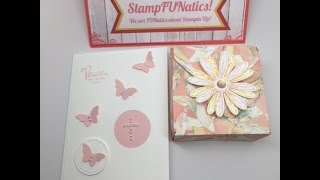 Stampin' UP!   Communion Card & Gift box