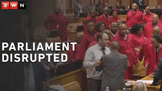 Scuffle between EFF and DA members during parliament debate