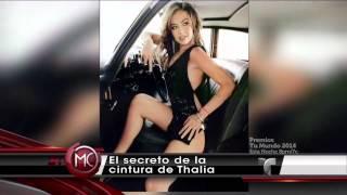 """El secreto de la cintura de Thalia (""""Al Rojo Vivo"""" - 21.08.2014)"""