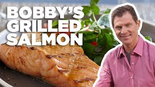 Bobby Flays Best Grilled Salmon With Brown Sugar Glaze   Food Network