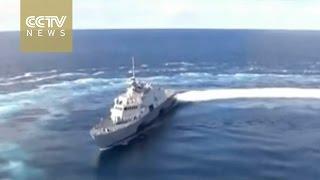 U.S. USS Fort Worth warship patrols South China Sea