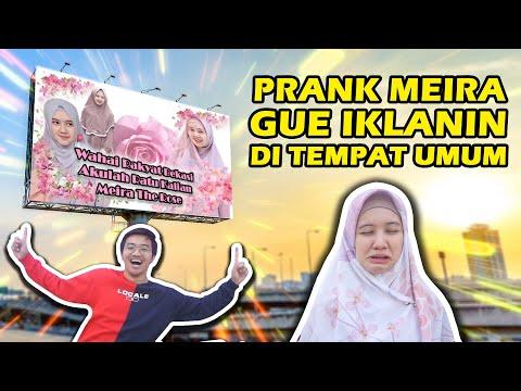 GUE IKLANIN MEIRA DI TEMPAT UMUM! PRANK Balasan!!! 🤬🤬