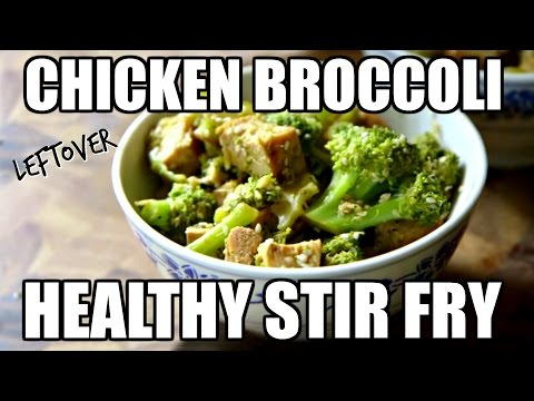 Video LEFTOVER CHICKEN RECIPE: Chicken and Broccoli Stir Fry Made From Leftover Chicken!