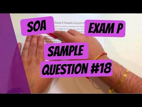 Exam P #18 | SOA Sample Questions - YouTube