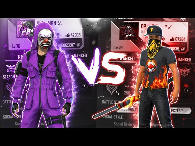 SK Sabir Boss vs M8N in Free Fire: Headshot percentage, win ratio, K/D ratio, and more stats compared