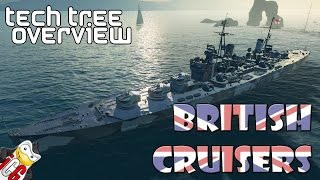 World of Warships - Tech Tree Overview - British Cruisers