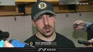 Brad Marchand On What Happened On Bruins' Shootout Loss Vs. Flyers