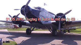 preview picture of video 'Ju 52 in Bohmte 01.05.2013'