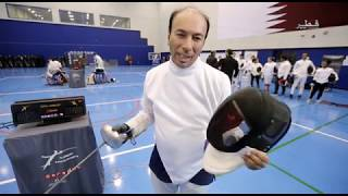 QTV-jawla tv Show at Clement Fencing Academy