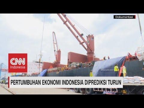 Pertumbuhan Ekonomi Indonesia Diprediksi Turun